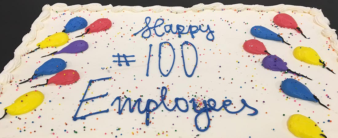Image for 100 Employees And Counting!