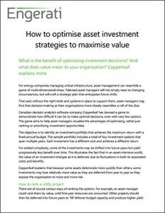 How to Optimise Asset Investment Strategies to Maximise Value | Copperleaf