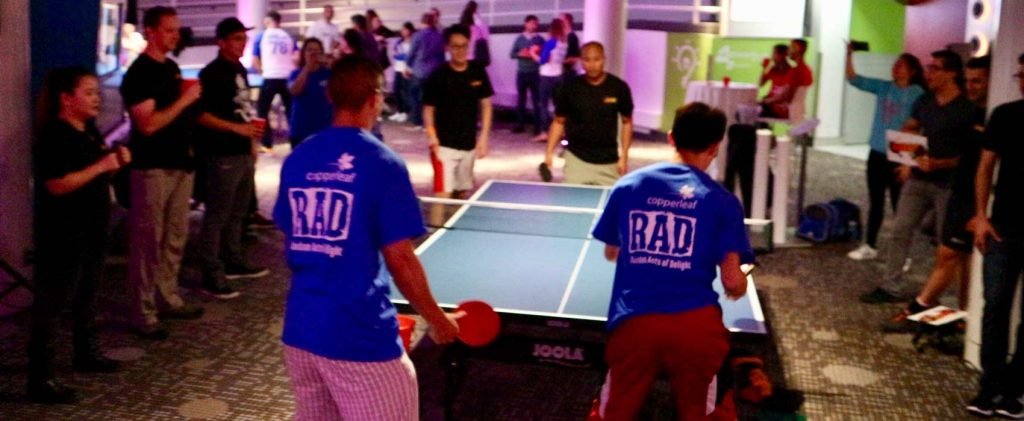 Copperleaf's RAD Initiative Serves Up Victory at TechPong 2017
