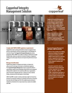Copperleaf Integrity Management Solution