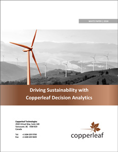 Driving Sustainability with Copperleaf Decision Analytics | AIPM | Copperleaf