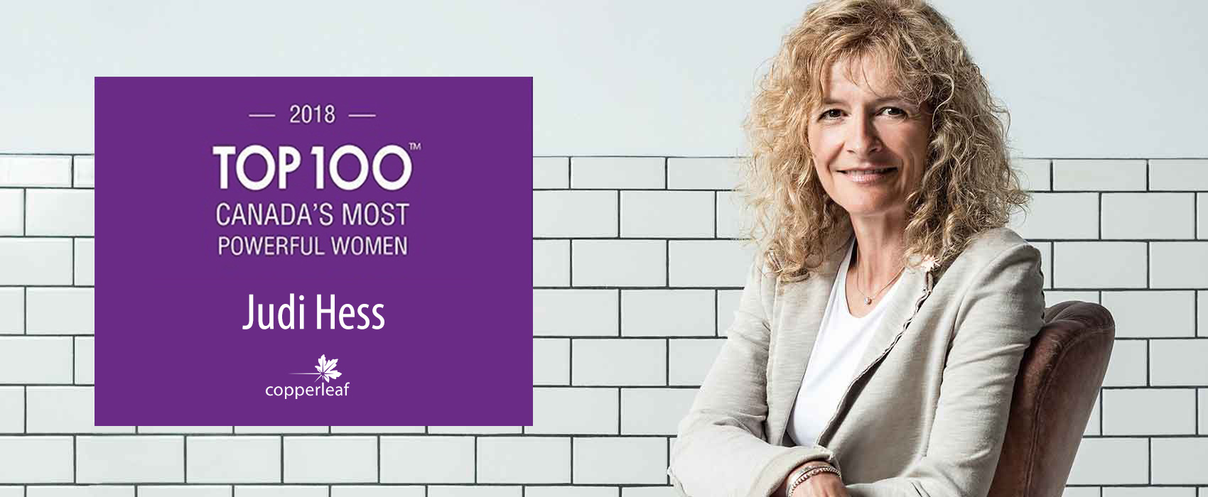 Image for Copperleaf CEO Judi Hess Named One of Canada's Most Powerful Women by WXN 2018