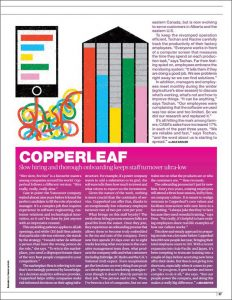 Canadian Business 2019 Copperleaf Profile | Enterprise Decision Analytics