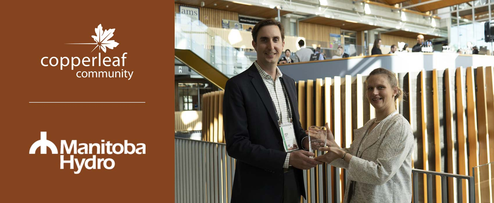 """Image for Manitoba Hydro Wins the 2019 Copperleaf Community """"Innovator of the Year"""" Award!"""