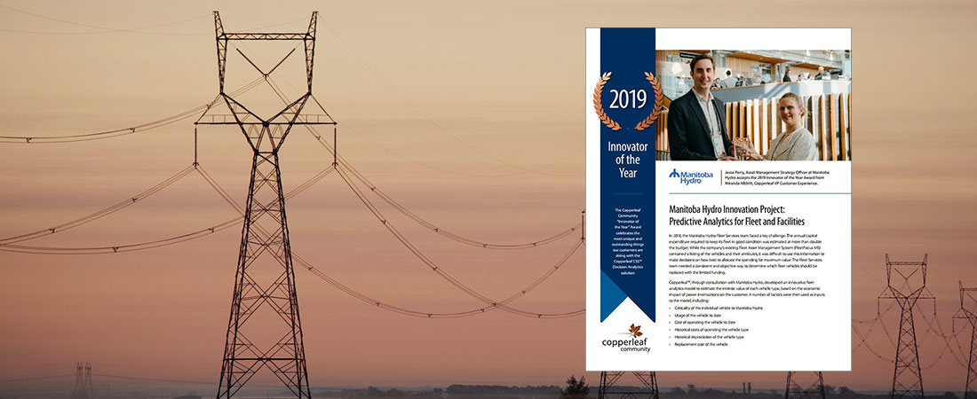 Image for Manitoba Hydro Innovation Project: Predictive Analytics for Fleet and Facilities