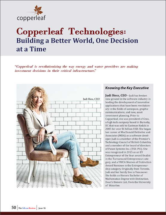 Building a Better World, One Decision at a Time | Copperleaf Technologies