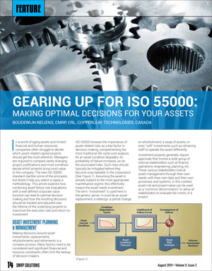 Gearing Up For ISO 55000: Making Optimal Decisions For Your Assets